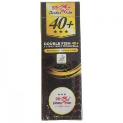 3 Star Double Fish Poly Competition Balls - 1 Dozen
